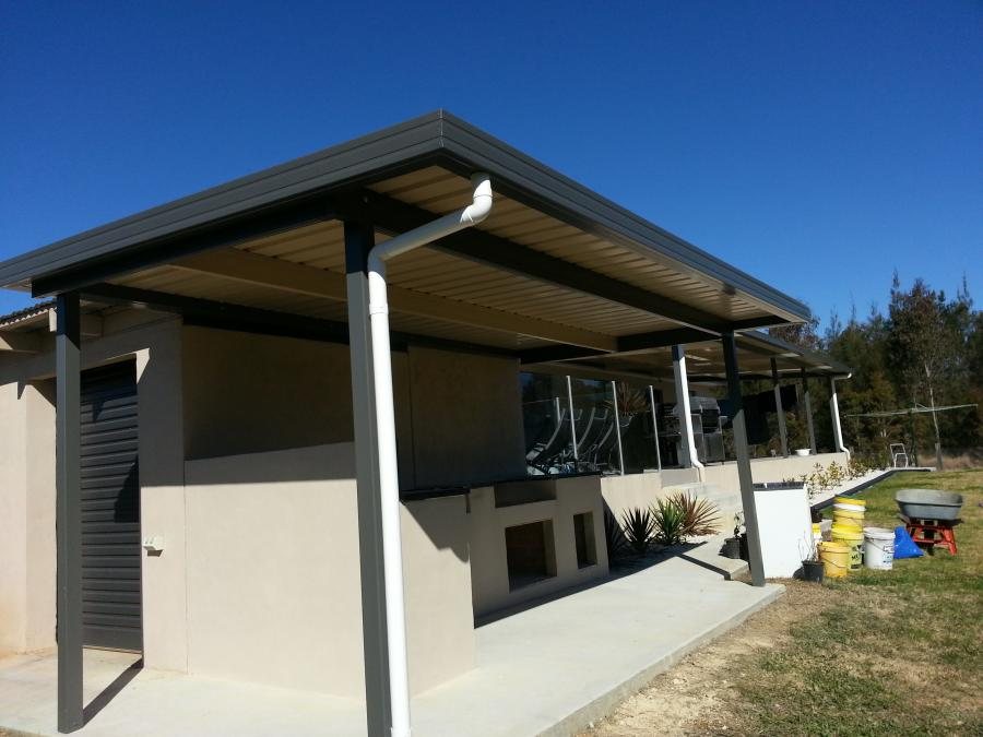 Flat Roof Awning 01