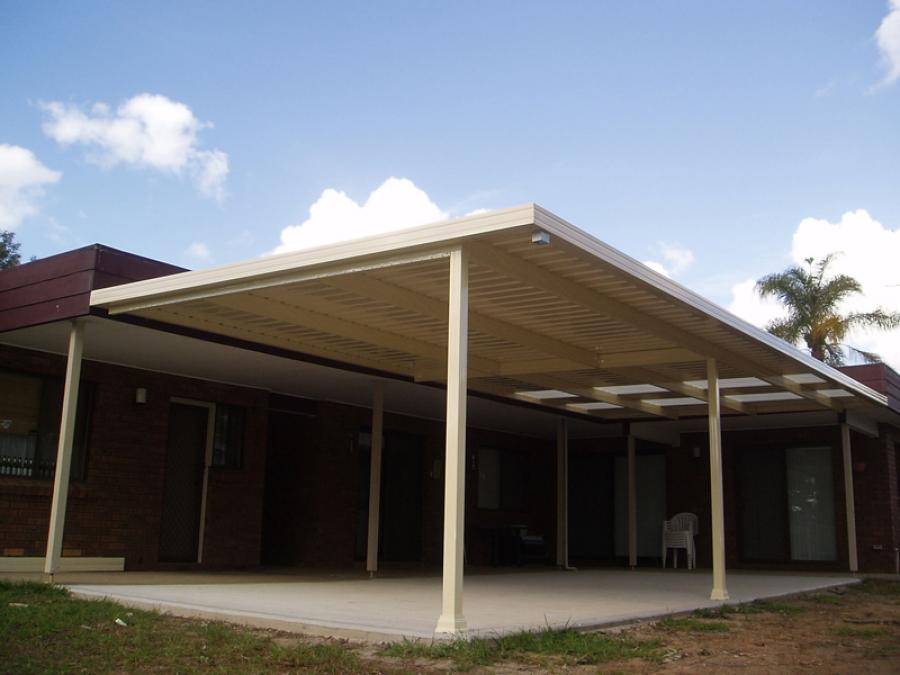 Flat Roof Awning 10