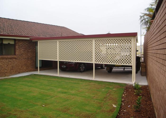 Flat Roof Carport 1